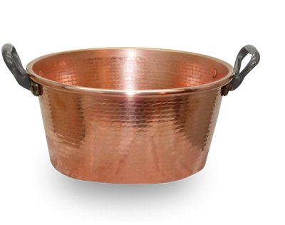 Dual Handle Copper Jam Pot