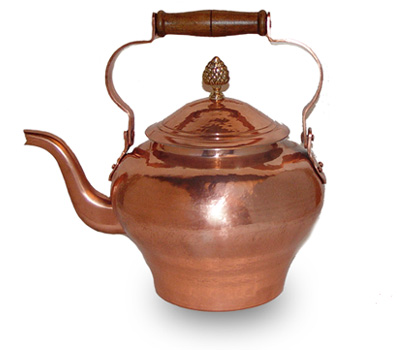Pierre Vergnes Copper Tea Coffee Pot @ 5.5 Quarts