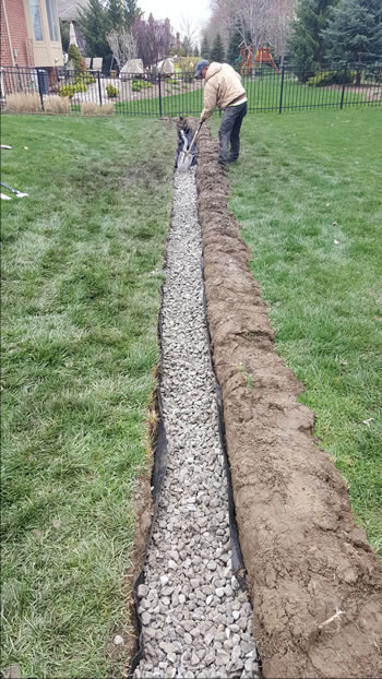 construction of a michigan french drain