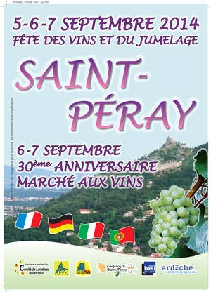 St Peray Wine Fair poster