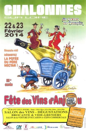 anjou wine fair poster