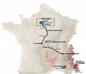 Paris Nice map 2020