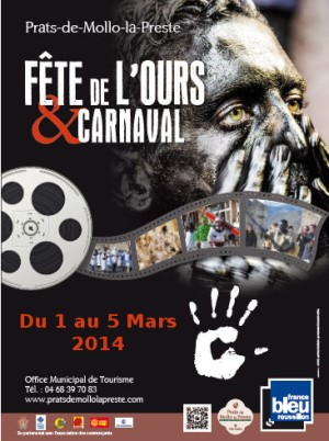 bear festival and carnaval poster