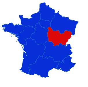 Bourgogne Franche Comté map
