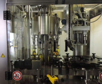 The bottling machine.