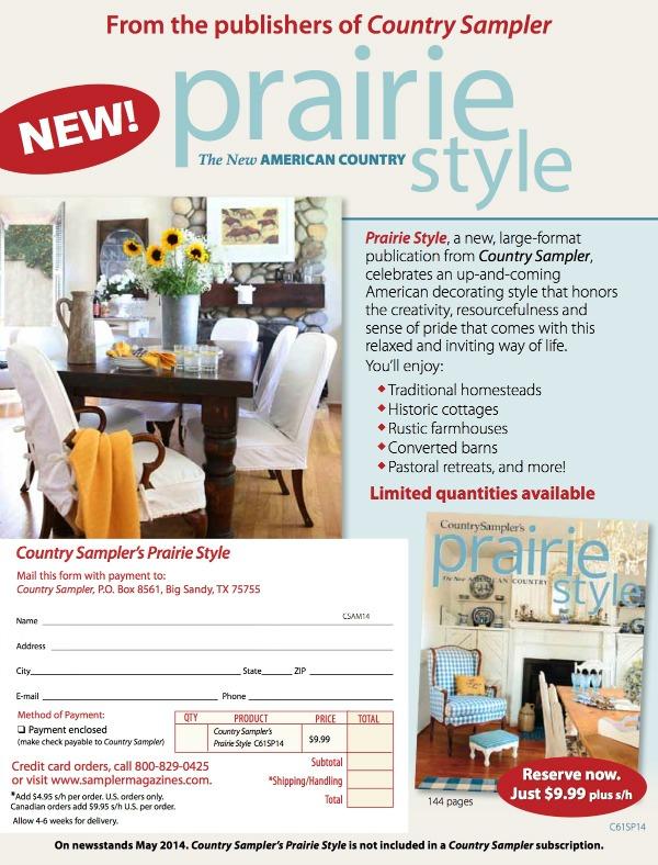 prairie style order