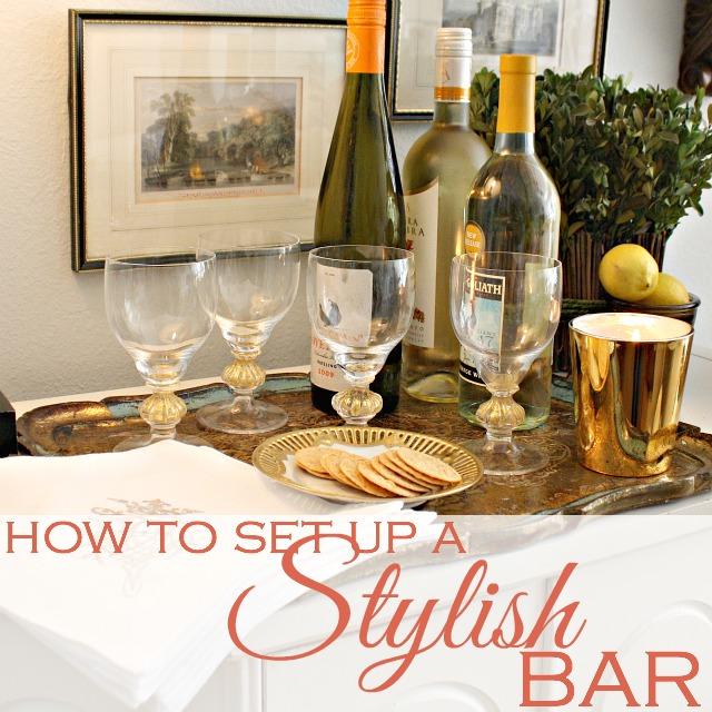 how to set up a stylish bar. Black Bedroom Furniture Sets. Home Design Ideas