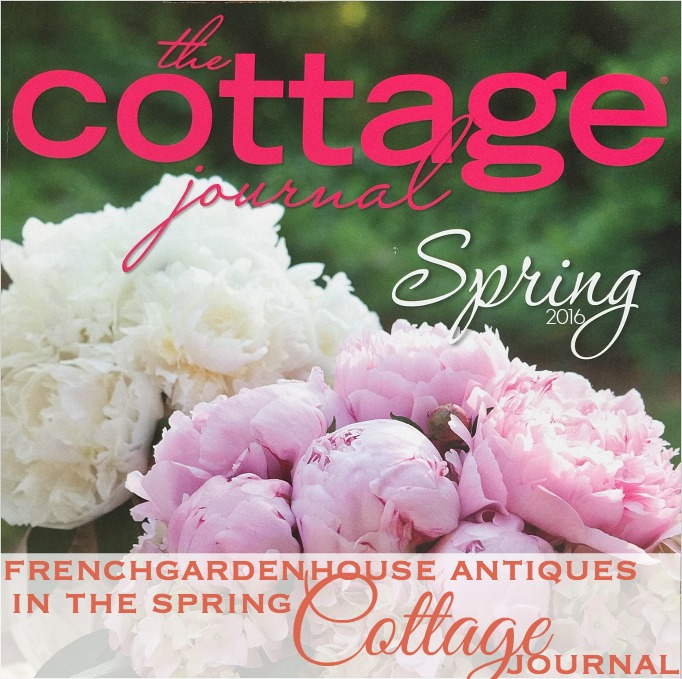 The cottage journal french enameled body pitchers for Spring cottage magazine
