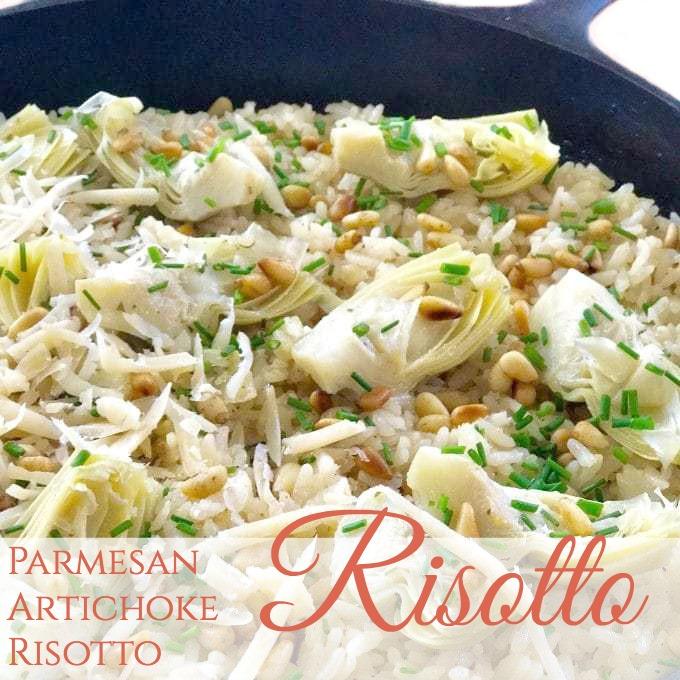 Spring Parmesan Artichoke Risotto