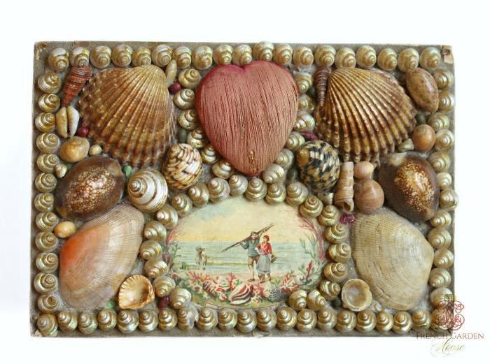 Victorian Shellwork Scrap Box