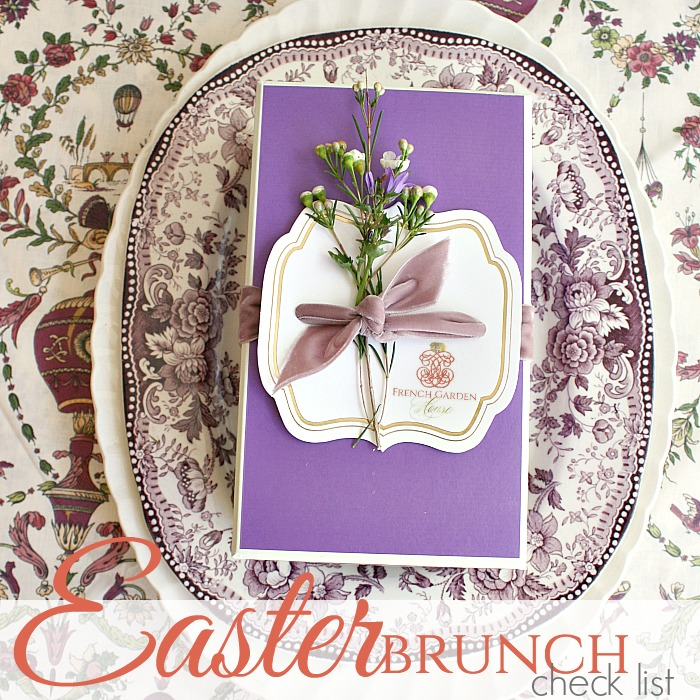 EASTER BRUNCH CHECK LIST