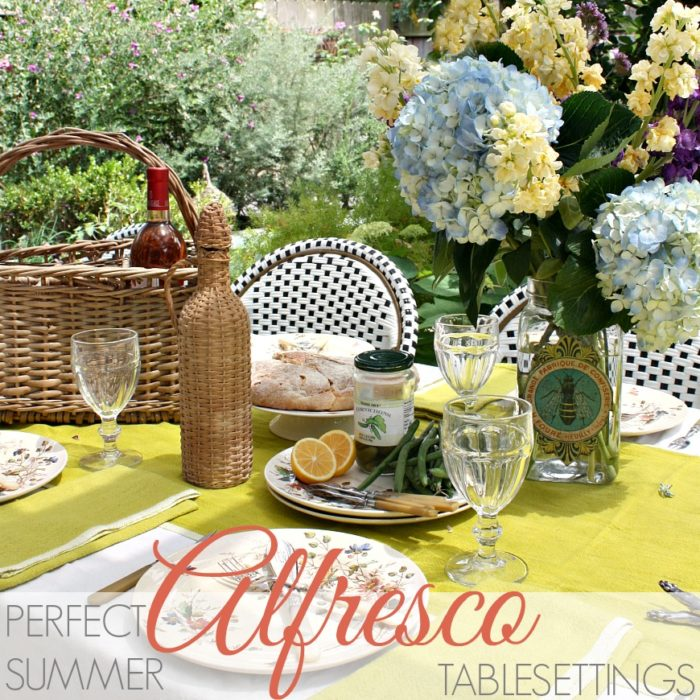 PERFECT SUMMER ALFRESCO TABLESETTINGS