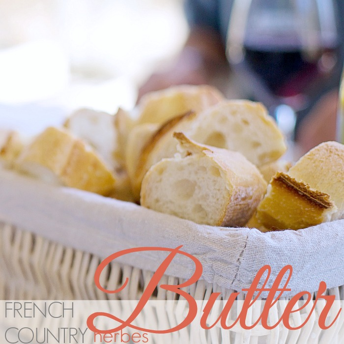 DIY FRENCH COUNTRY HERBES BUTTER