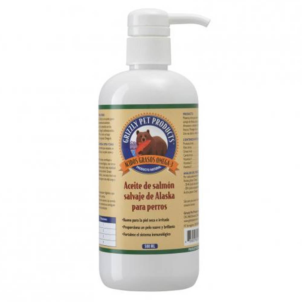 aceite salmon perros grizzly