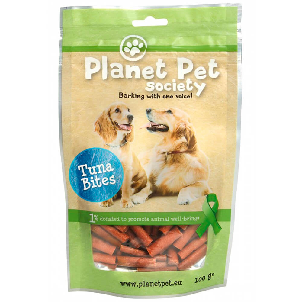 snacks premios perro planet pet society bocaditos atun