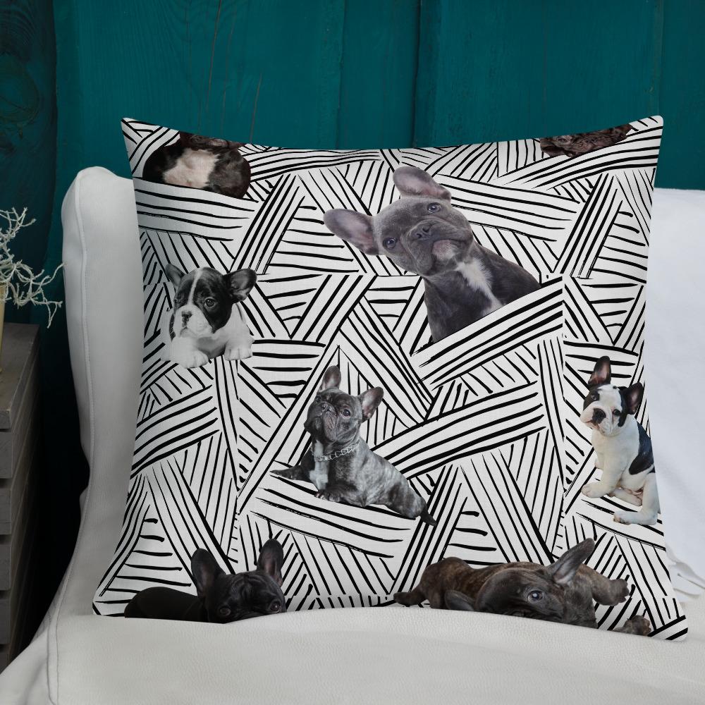 Graphic French Bulldog Pillow