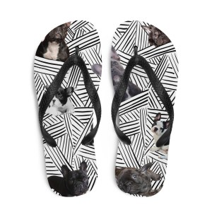 Graphic Frenchie Flip-Flops