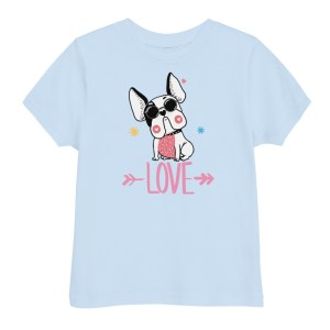 Frenchie Hipster Love kids t-shirt