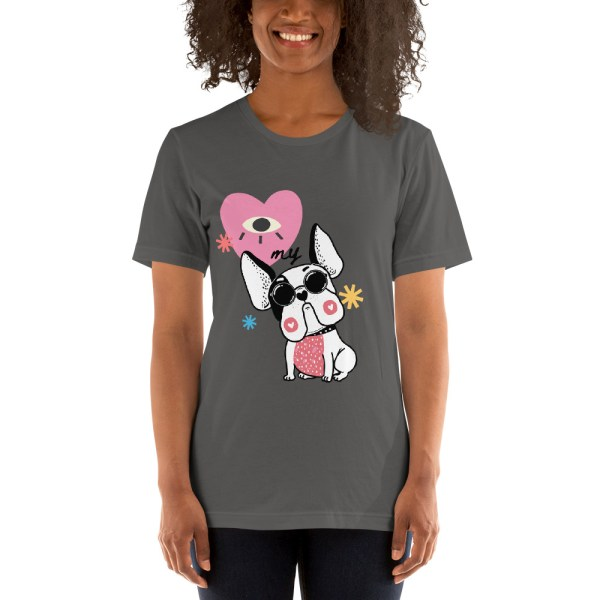 I Heart My Frenchie Hipster women's t shirt
