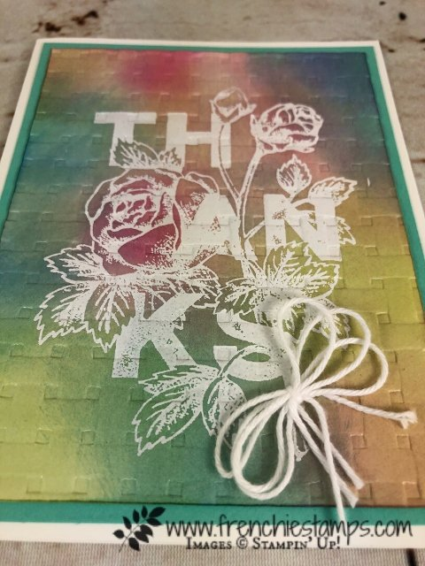 Floral Statement with twice the emboss