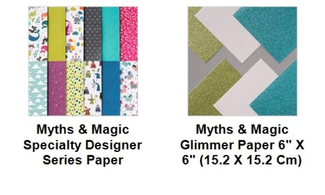 Stampin'Up! Designer Paper, Myths & Magic, Glimmer Paper , Frenchiestamps, Designer Paper Share
