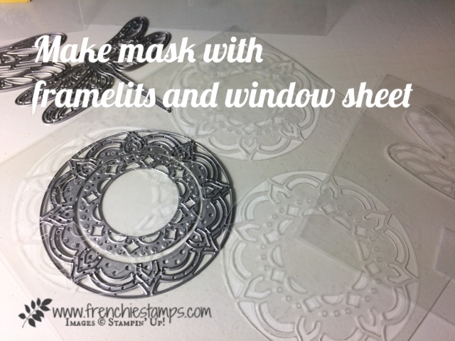 Make your own mask with Thinlits and window sheet