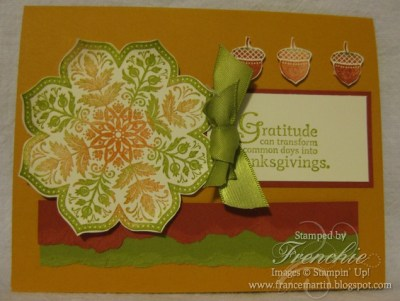 Day of Gratitude from Stampin'Up! Mini Holidays.