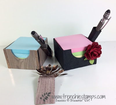 His and Hers Post It Note cub holder.