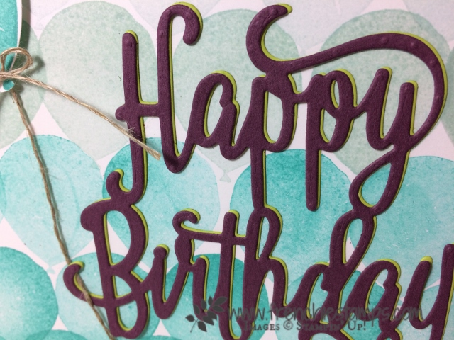 Adhesive Sheet, Happy Birthday Thinlits, Stampin'Up!