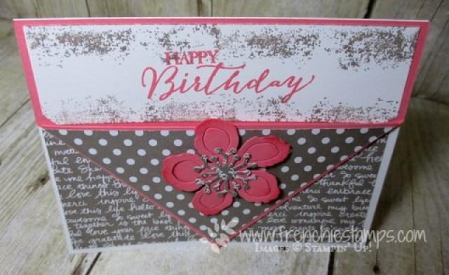 Pocket card, Diagonal Fold Gift Card holder