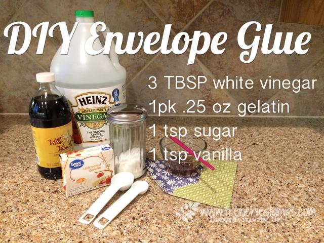 DIY Envelop Glue, Seal Envelope, Frenchiestamps,