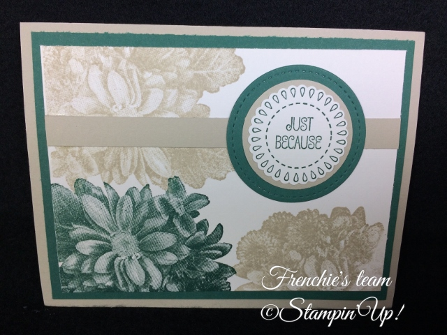 A Good Day, Heartfelt Blooms, Sale a Bration and Occasion Stampin'Up! 2018, Frenchie stamps in the Spotlight,