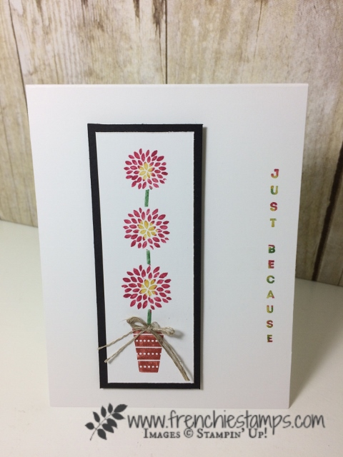 Vertical Greetings, Stampin'Up!, Stamping technique Stamping with markers