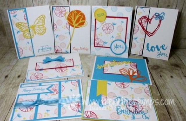 Live stamping tonight One Sheet Wonder Make your own designer paper