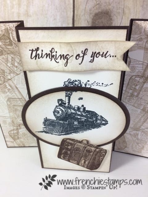 Vintage Masculine card, Traveler Stampin'Up!, Frenchiestamps,
