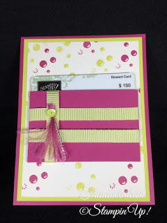 Frenchie's Team, Gift Card Holder, Stampin'Up!, Bubble Over,