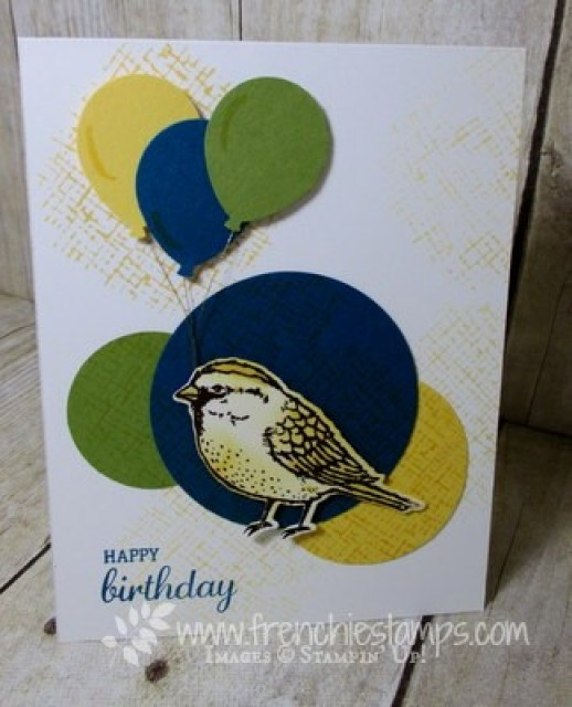 Best Birds, Birthday Cards, Balloon Punch, Stampin'Up!, Frenchie Stamps,
