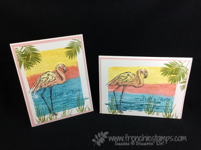 Clear Block technique and Fabulous Flamingo