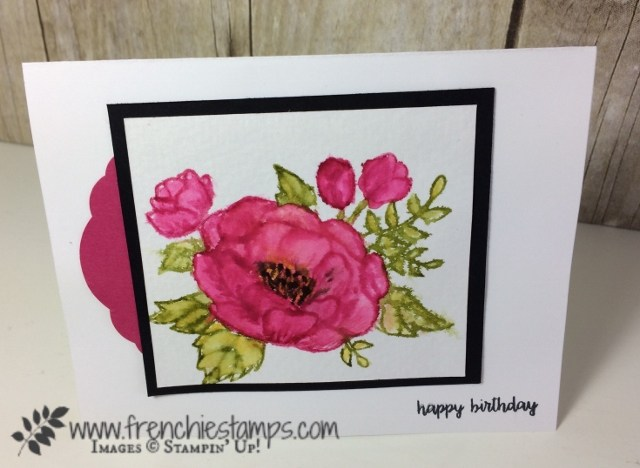 Stampin Up! Birthday Blooms Watercolor