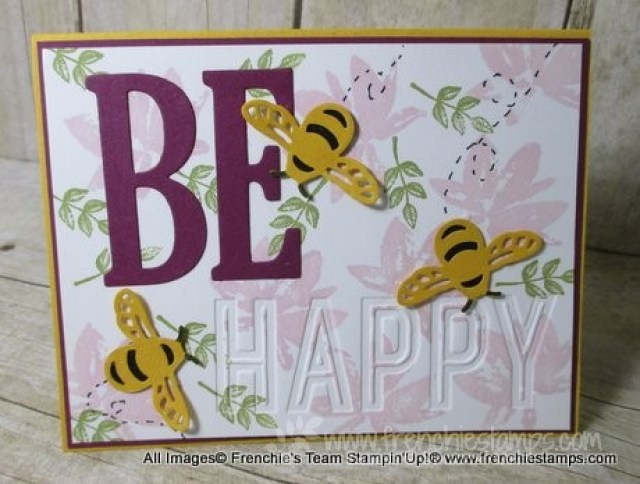 Be Happy Card and Bee Hive