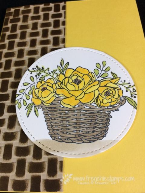 Basket Weave Folder, Blossoming Basket, Emboss and ink, Frenchiestamps, Stampin'Up!,