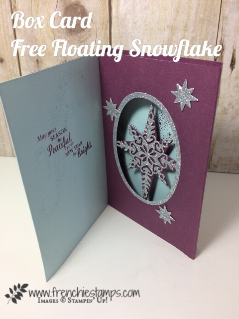 Box Card, Floating Snowflake, Frenchie Stamps, Stampin'Up!