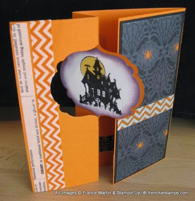 Gated Flip card with Stampin'Up! Thinlits