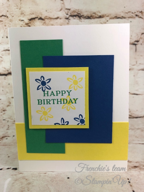 2018-2020 Stampin'Up! in-Colors, Frenchie Team challenge, Perennial Birthday