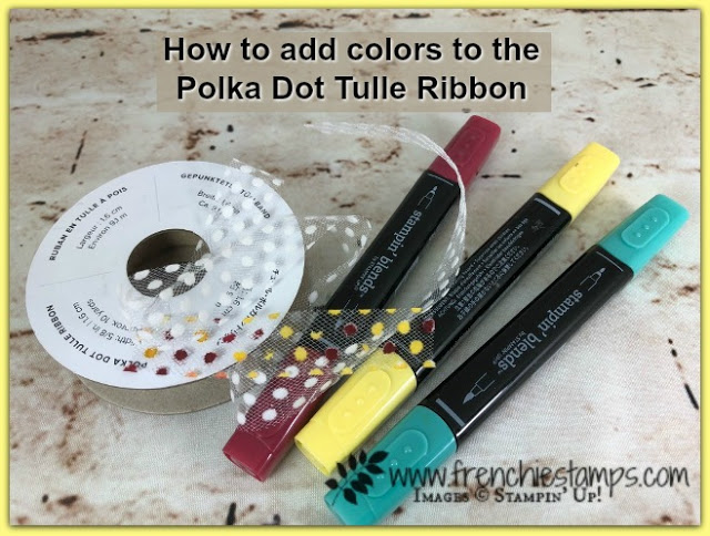 How to add colors to the Polka Dot Tulle Ribbon