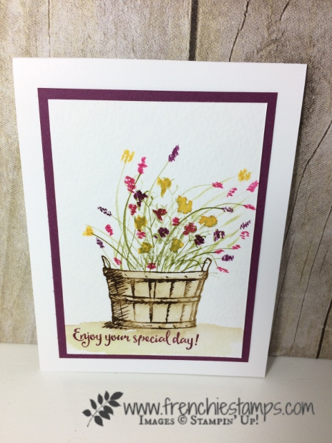 Wild Watercolor with Basket of Wishes