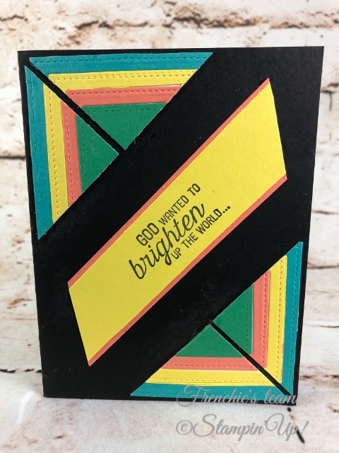 2018-2020 Stampin'Up! in-Colors, Frenchie Team challenge, Flourishing Phrases