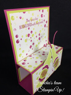 Frenchie's Team, Gift Card Holder, Stampin'Up!, Bubble Over