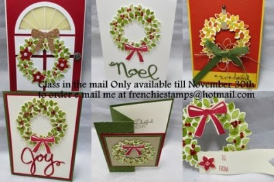 Live Stampin'Up! Holiday catalog, New share, Class in the mail