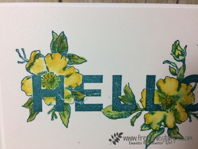Floral Statement, Watercolor, Stampin'Up!